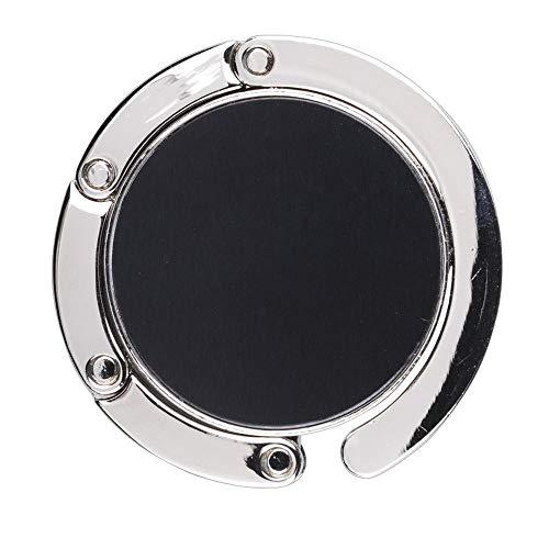 2X WPRO Handtaschenhalter Nicola Metall | Etui | Handtasche | Tisch - Geschenkbox - Damen schwarz Faltbar