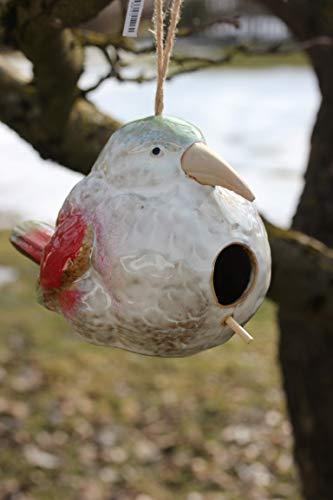 Unbekannt Vogelhaus Vogel aus Keramik, 14 x 20 x 14 cm zum Aufhängen