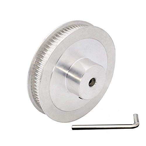 KAPAYONO 5mm Bore GT2 80T Pulley Synchronous Wheel 2GT Timing Belt Pulley 80 Teeth for Voron 2.4 3D Printer 6mm Width Belt