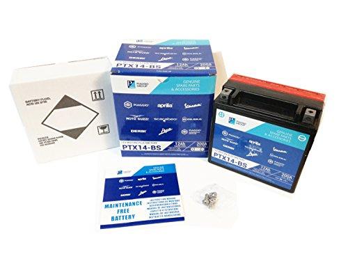 Batteria PTX14-BS Originale Piaggio SIGILLATA YTX14-BS
