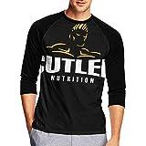 EUBCS Men's Funny Jay Cutler 3/4 Sleeve T-Shirts Baseball Tee Athletic Round Neck Tops Jersey Tees Black