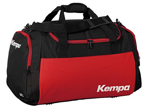 Kempa Teamline Sporttasche Tasche, Schwarz/Rot, L