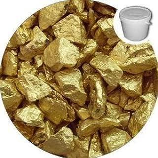 1 Kilo decorativo Premium seda cristal dorado de virutas – Pebbles – piedras – boda – jardín – Memorial – Pantalla: Amazon.es: Hogar