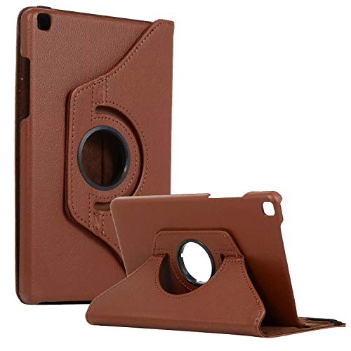 SM-T290 Rotating Case SM-T295 Cover, Galaxy Tab A 8.0 2019 Case, Coopts Slim Anti-Shock Shell 360 Degree Rotating Swivel Typing & Viewing Stand Cover for Samsung Galaxy Tab A8 T290 T295 2019, Brown