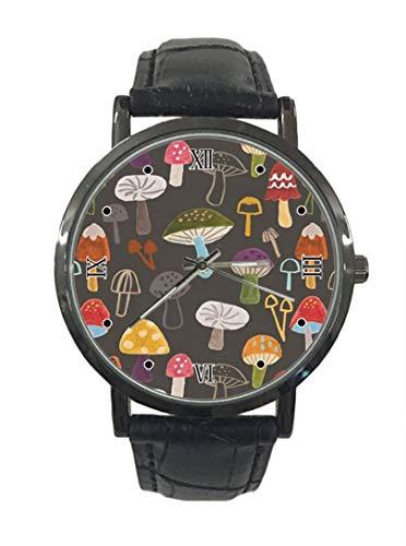 Nuevo reloj de pulsera de cuarzo analógico de cuero de acero de moda simple de seta colorido