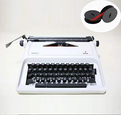 Vintage Schreibmaschine, Retro Mechanische Schreibmaschine und 2 zusätzliche Ersatzbandsets 11,8 * 11,8 * 5,9 Zoll