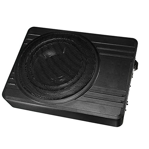 LQIAN 10 Inch 600W Car Subwoofer Car Audio Slim Under Seat Active Subwoofer Bass Amplifier Speaker Car Amplifier Subwoofer