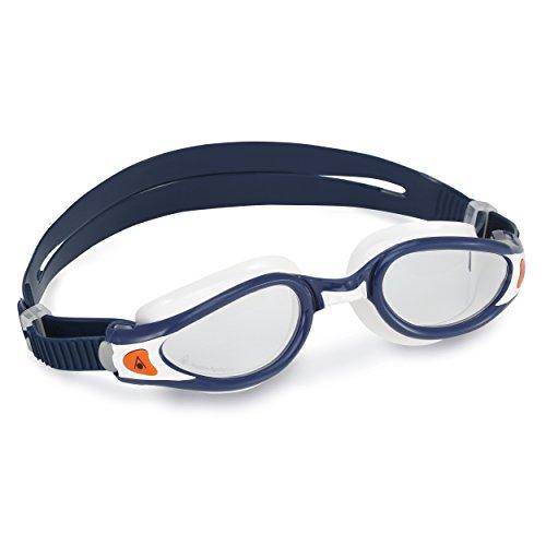 Aqua Sphere Kaiman Exo Gafas de natación, Unisex Adulto, Azul y Blanco, Talla única