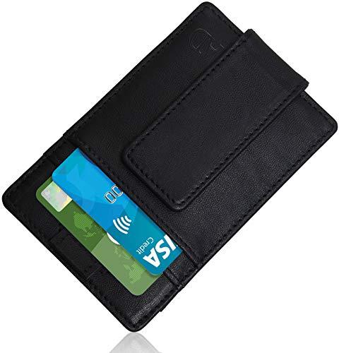 Slim Money Clip Wallet For Men - RFID Blocking Strong Magnetic Thin Front Pocket Mens Wallet Card Holder