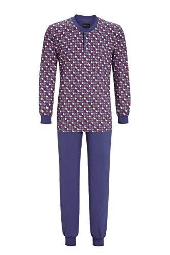 Ringella Herren Pyjama mit Strickbündchen Denim 56 0541219, Denim, 56