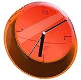 'Reloj de Pared Glamour en Naranja Transparente