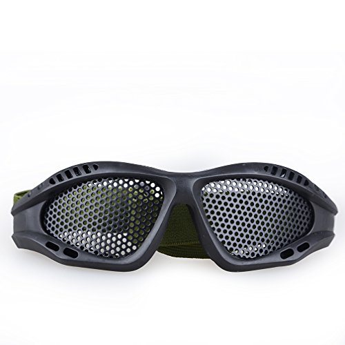 actical Shooting Airsoft Goggles Anti-fog Mesh Safety Goggles for Military Fans Color Black