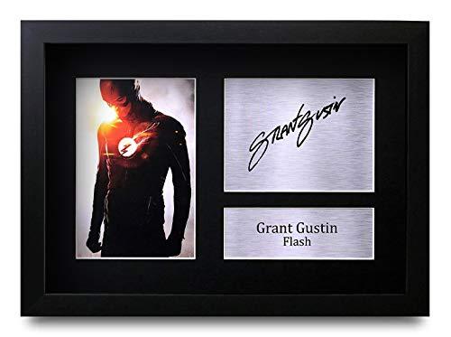 HWC Trading Grant Gustin A4 Gerahmte Signiert Gedruckt Autogramme Bild Druck-Fotoanzeige Geschenk Für The Flash Tv-Show-Fans