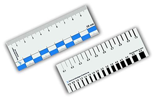 Sachverständigen-Zubehör Set Rissbreitenlineal | Dokumentationshilfe | praktisches Risslineal | Riss Karte Fotodokumentation | exaktes Rißlineal | Kfz Wertermittler | Gutachter (10 cm)