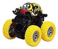 教育玩具四輪駆動慣性オフロード車360度回転シミュレーションスタントスイングカーグッズ シミュレーション (Color : Yellow)
