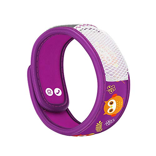 PARA'KITO Mosquito Insect & Bug Repellent Kids Wristband - Waterproof, Outdoor Pest Repeller Bracelet w/ Natural Essential Oils (Owl)