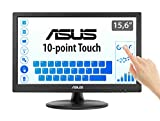 ASUS VT168N 15.6' Monitor, 1366 x 768, TN, 10-point Touch Monitor, Flicker Free, Filtro Luce Blu, Certificazione TUV