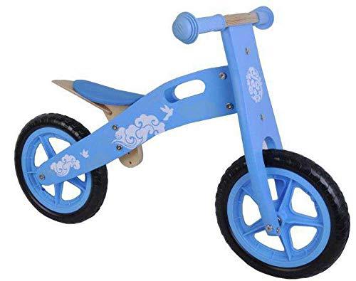 Kubbinga Yipeeh Vélo d'équilibre en Bois avec pneus Eva Bleu 30,5 cm