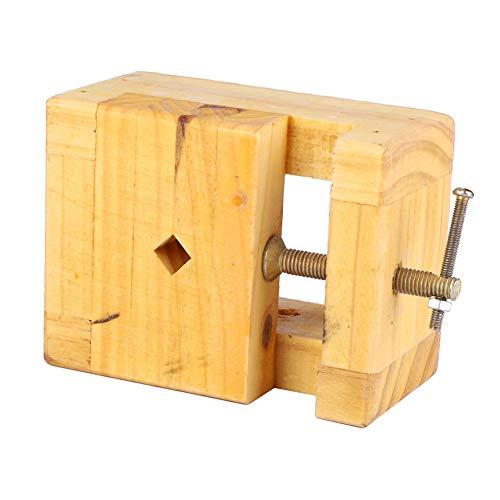 Alicates planos de fuerza de sujeción fuerte de 1 pieza, tornillo de banco de madera y acero para sello de sujeción(Large engraved seal bed)