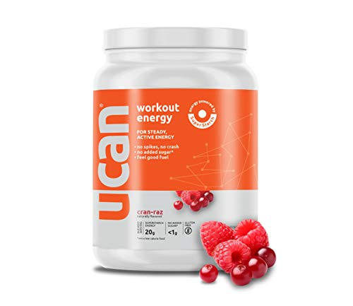 UCAN Energy Powder with Superstarch - Maximum Sustained Energy, Curbs Hunger, Increased Focus, Advanced Absorption, Vegan, Sugar and Gluten Free (30 Servings, Cran Raz)