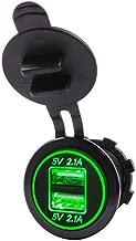 Caravana 12-24 V CC Cargador Dual USB LNIMIKIY Toma de Corriente USB para Coche Resistente al Agua cami/ón para Coche Barco Motocicleta Adaptador de Enchufe con volt/ímetro Digital LED