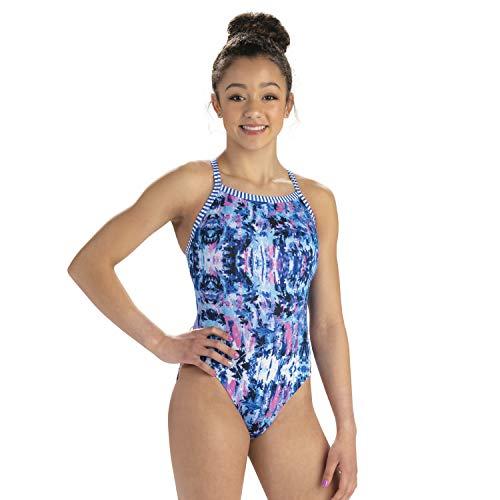 Dolfin Women's Uglies V-2 Back One Piece Swimsuit (Azure, 38)