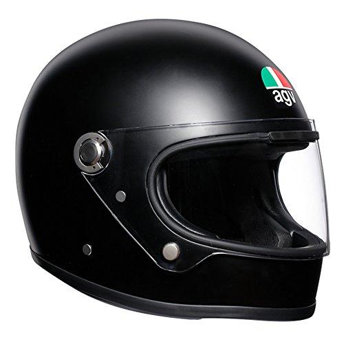 AGV Herren X3000 Agv E2205 Solid Motorrad Helm, schwarz, L EU