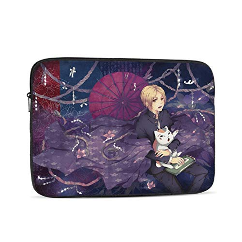 Natsume's Book of Friends Waterproof Laptop Shoulder Messenger Bag Polyester Zipper, for 10 Inch 12 Inch 13 Inch 15 Inch 17 Inch Case Sleeve Protective Soft Padded 12 inch