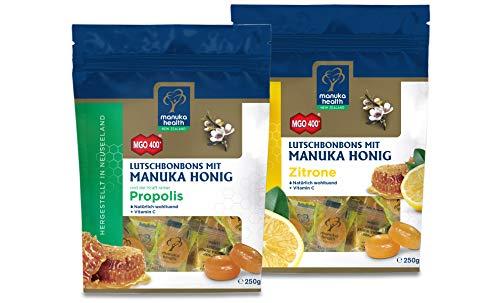 Manuka Health - Manuka Honig Lutschbonbons, Propolis und Zitrone, je 250g, 2er Pack