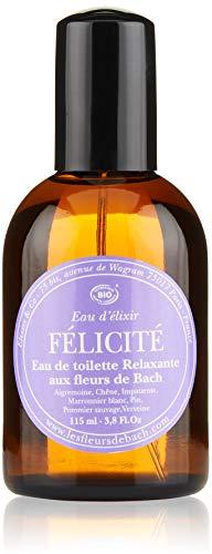 Elixirs & Co - Eau de toilette aux fleurs de Bach - Bien-être - 100% Naturel - VEGAN - BIO - MADE IN FRANCE - Félicité - Eau de toilette relaxante 115ml