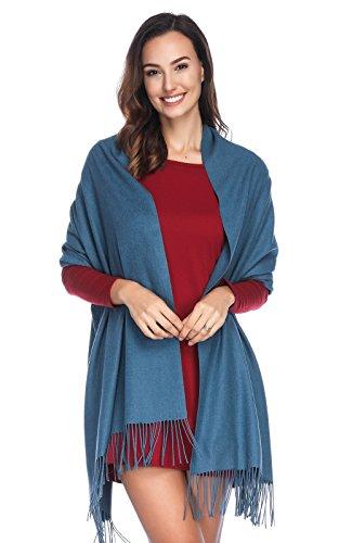 HOYAYO Damen Kaschmir Wolle Umschlagtuch Warm Schal Tuch Stola,Einfarbiger schal für Frauen(vielen Farben)