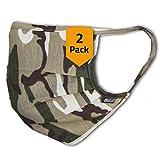 Facetex 3er-Pack Abdeckung 100% Baumwolle   waschbar bis 90°C, Bügeleisen-geeignet, Oeko-TEX 100 Standard   Einheitsgröße für Erwachsene   Wiederverwendbare Behelfs-Abdeckung für Mund Nase in Khaki