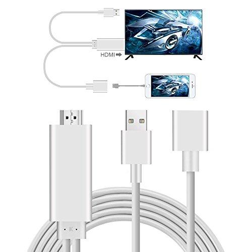 Mirroring al cavo HDMI per Phone Smartphone Pad e Smartphone, Musou Plug & Play Mirroring al cavo adattatore per adattatore HDMI HDTV per lo specchio dello schermo sul proiettore HDTV