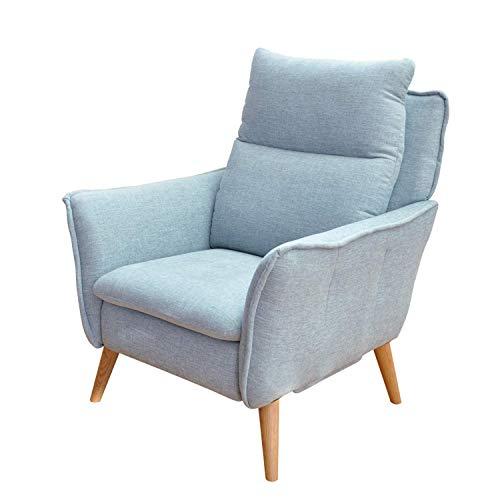 place to be. Sillón moderno sin función para ver la televisión y relajarse, color azul claro P9908 con protección antimanchas de haya maciza