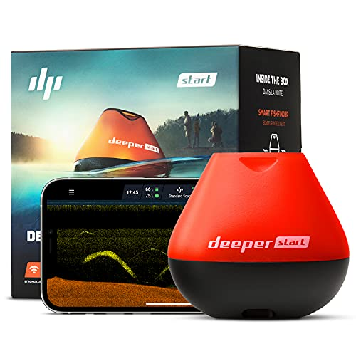 Deeper START Smart Fish Finder – Castable Wireless Wi-Fi Sonar Fish Detector