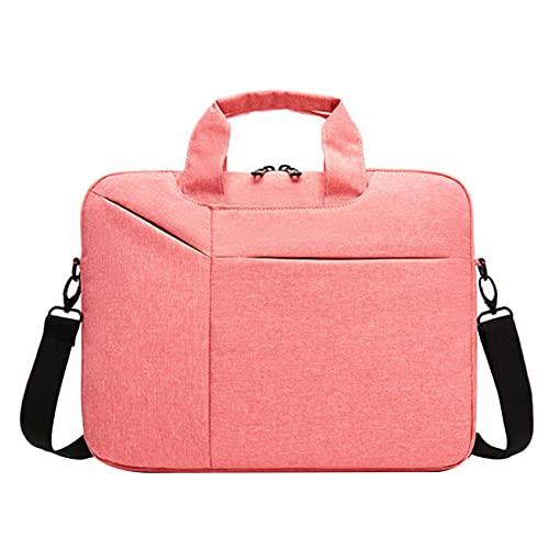 Sonline Laptop Protective Cover 14.1-Inch Men's and Women's Shoulder Bag, Bottom Depth Adjustable, Pink