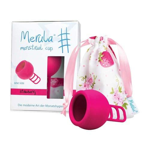 MERULA Menstrual Cup strawberry pink 1 St