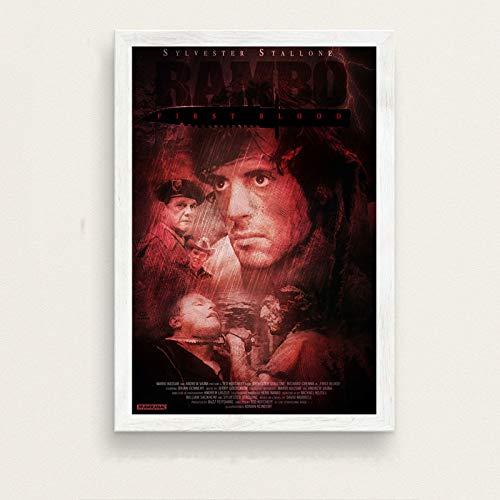 zxddzl Klassische Film Stallone Rambo Kunst malerei Poster Wand Dekoration 9 50 * 70