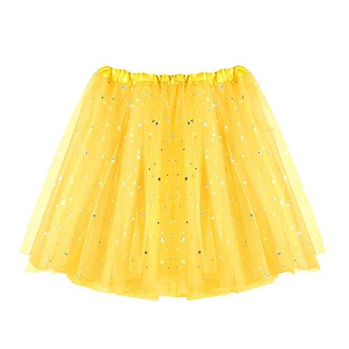 VEMOW Damen fashion rock gelb einheitsgröße