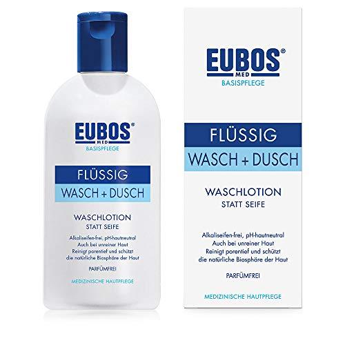 Eubos | Waschemulsion blau | 200ml | gegen unreine Haut | schonende Körperreinigung | Hautverträglichkeit dermatologisch bestätigt | pH-hautneutral