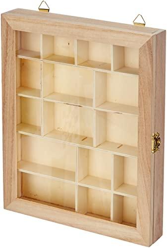 Artemio Vitrine, Holz, beige, 23 x 28 x 2,9 cm