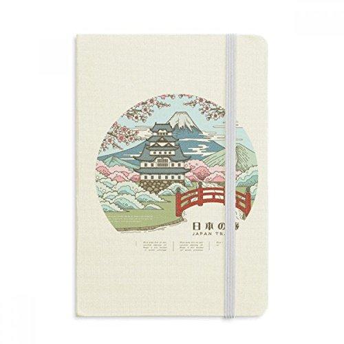 DIYthinker Mount Fuji Sakura Japan Ukiyo-e Notebook Stoff Hard Cover Klassisches Journal Tagebuch A5 A5 (144 X 210mm) Mehrfarbig