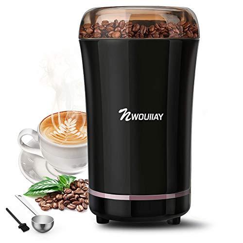 Hazmemejor Molinillo de caf/é el/éctrico Molinillo de caf/é el/éctrico en Grano Nueces del hogar Granos Frijoles Hierbas Especias Molienda 220V Enchufe de la UE