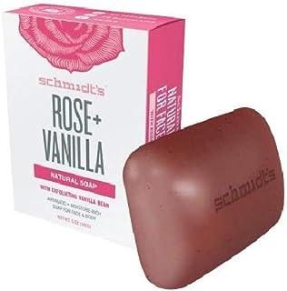 Schmidt's Deodorant Bar Soap - Rose & Vanilla - Case of 6-5 Oz