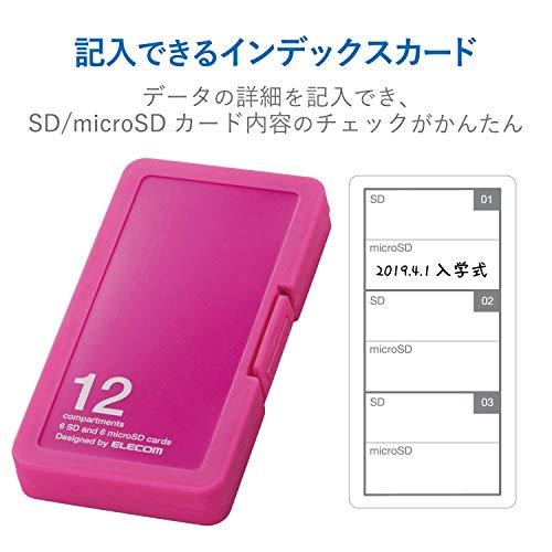 エレコム『SD/microSDカードケース(プラスチックタイプ)(CMC-SDCPP12PN)』