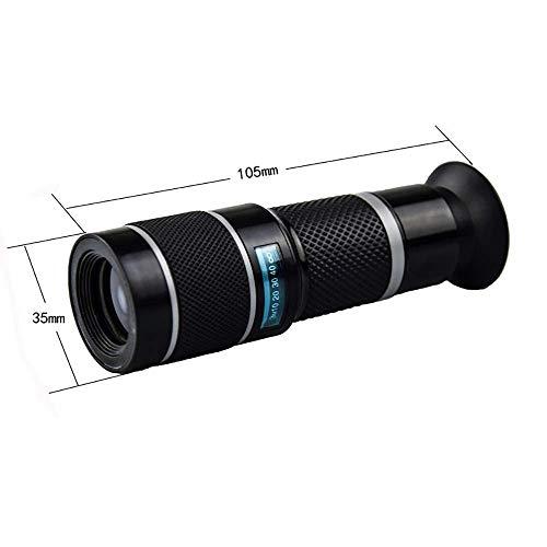LNHJZ Binoculares Universal Externo Fotografía HD Fotografía Enfoque Ajustable Inteligente 18 Veces Teléfono móvil Teleobjetivo Cabeza de telescopio (Color: Gris)