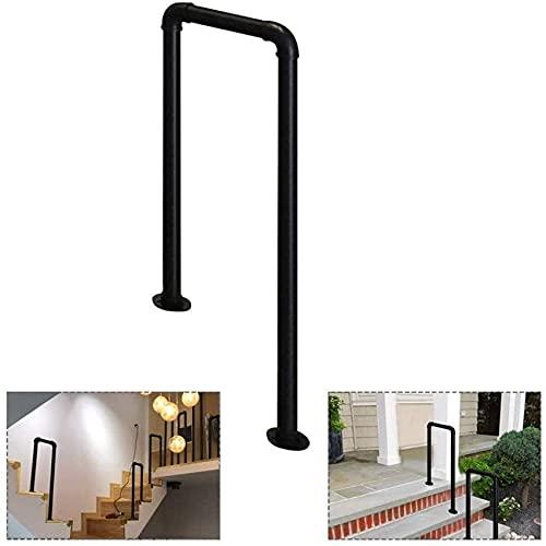 SACKDERTY U-förmige schmiedeeiserne Handläufe, verwendet für Treppen, Indoor-Holzplanken für ältere Menschen und Kinder Loft-Korridor-Sicherheits-rutschfeste Stützgeländer-Zaun (Größe: 75 cm