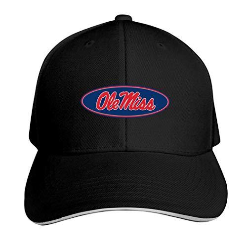 Ole Miss Rebels - Cappello da calcio neutro regolabile per camionista, Uomo, 457PRMH-71Y-R6X, Nero , ONE_SIZE