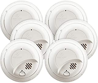 First Alert BRK9120b Hardwired Smoke Detector with Battery Backup, 6-Pack