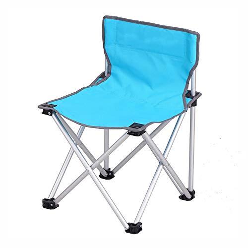 Taburete plegable al aire libre taburete plegable portátil actividades al aire libre silla portátil plegable silla de viaje al aire libre camping H-21 (azul)